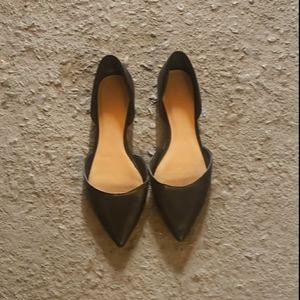 Aldo Black Pointed Toe Flats